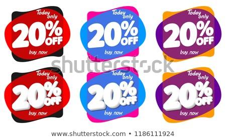 Summer Time Sale 20 Percent Vector Illustration Stock photo © robuart