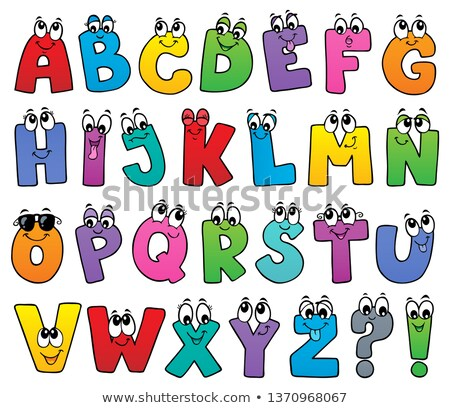 Cartoon alphabet topic image 1 Stock photo © clairev