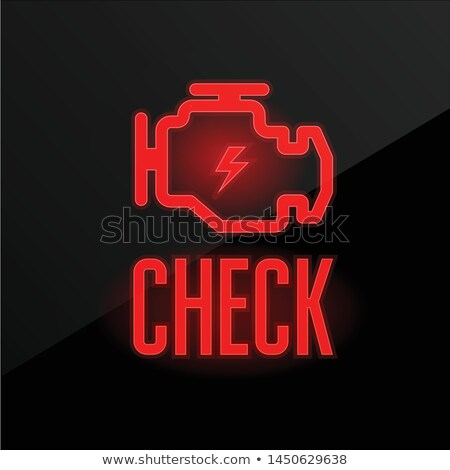 Check engine icon - blinking indicator on dashboard, breakdown a Stock photo © Winner