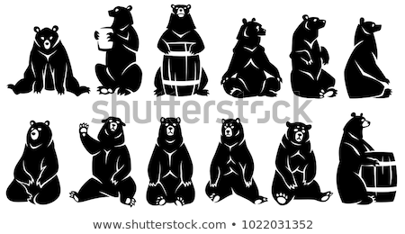 Vergadering beer illustratie cute kunst leven Stockfoto © Dazdraperma