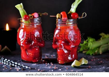пить кровавый коктейль вечеринка дизайна Сток-фото © furmanphoto