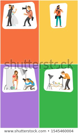 Photographer and Photojournalist Bright Banners Stock photo © robuart