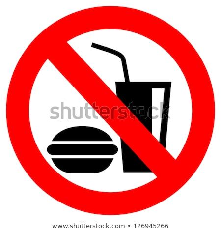 Műanyag csésze tilalom címke fehér átlátszó Stock fotó © romvo