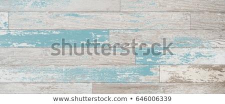 Aqua tone weathered vintage wood wall Stock photo © boggy