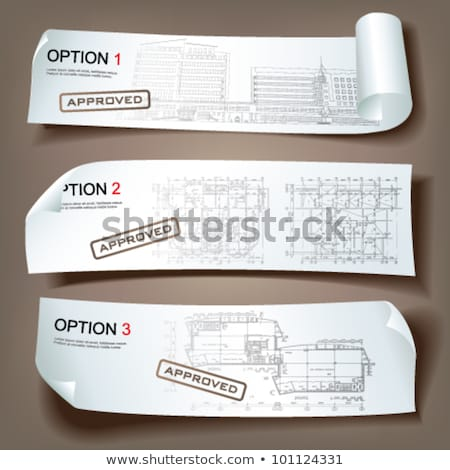 Márka név szalag fejléc üzlet marketing stratégia Stock fotó © RAStudio
