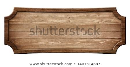 Wooden signboard Stock photo © montego