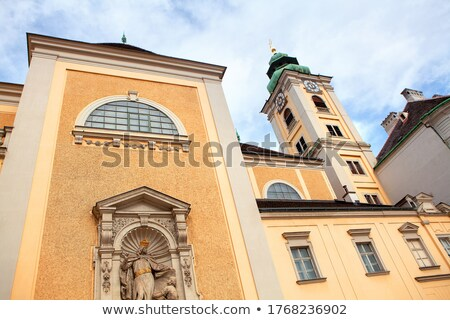 barok · kerk · Oostenrijk · Geel · straat · reizen - stockfoto © borisb17