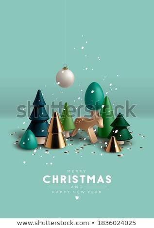 Christmas decoratief speelgoed man ontwerp ruimte Stockfoto © furmanphoto