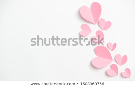 greeting card with heart shaped sweets holiday template stock photo © karandaev