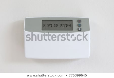 Vintage digital thermostat - Covert in dust - Burning money Stock photo © michaklootwijk