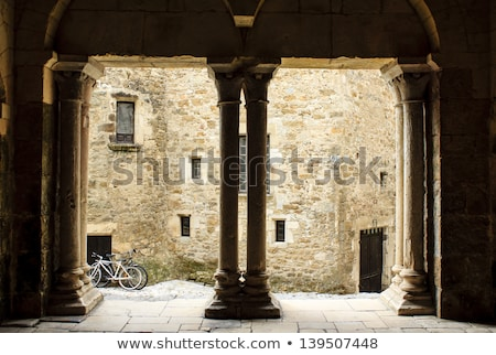 Old medieval curch in French village Stock photo © ivonnewierink