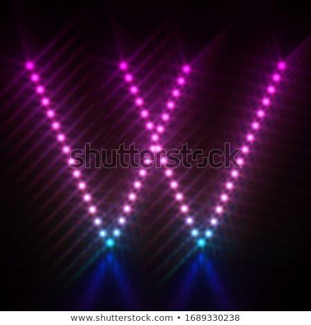 Różowy niebieski kropka świetle chrzcielnica list w Zdjęcia stock © djmilic