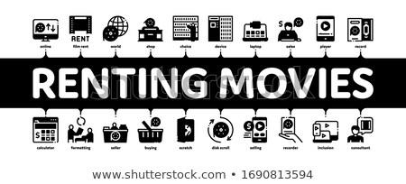 Films dienst banner vector Stockfoto © pikepicture
