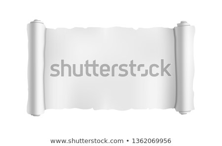 Wide blank old scroll, blueprint roll template on white Stock photo © evgeny89