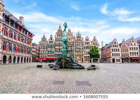 старые домах Бельгия монументальный квадратный Сток-фото © dmitry_rukhlenko