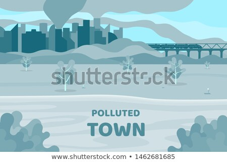 Chemischen Verschmutzung abstrakten gefährlicher Abfälle Produkte Stock foto © RAStudio