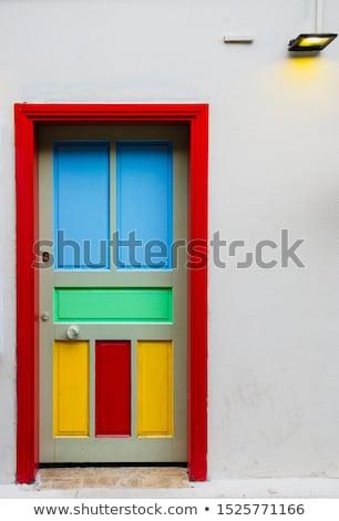 azul · edad · puerta · detalle · manejar - foto stock © smithore