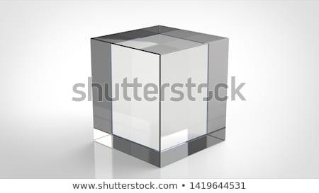 Sólido vidrio cubo estudio fotografía reflexiones Foto stock © prill
