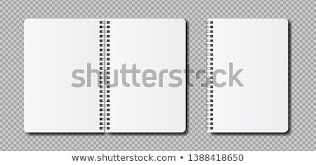 スパイラル ノートブック オフィス テクスチャ 背景 スペース ストックフォト © Archipoch