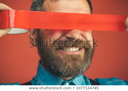 Manuel travailleur horreur visage travaux costume Photo stock © photography33