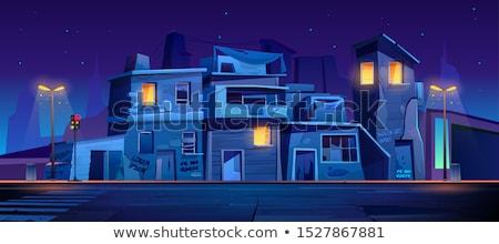 Nacht luchtfoto stad Filippijnen water gebouw Stockfoto © joyr