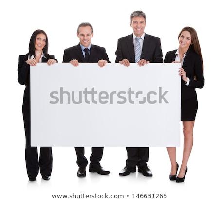 женщины · исполнительного · реклама · совета · изолированный - Сток-фото © stockyimages