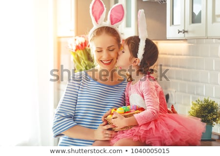 Happy mother getting decorations ready Stock photo © photography33