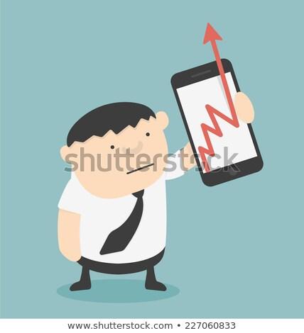 Arrows Pointing Up On Smartphone Shows Progress Stock photo © stuartmiles