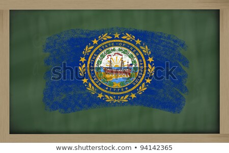 flag of US state of new hampshire on blackboard painted with cha Stock photo © vepar5