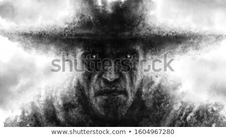 Scary · человека · карт · изолированный · белый - Сток-фото © ivonnewierink