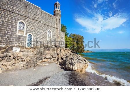 Szent hely fiatalember szerény ima Biblia Stock fotó © georgemuresan