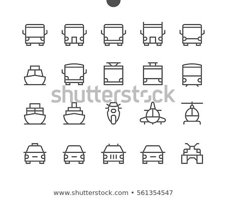 Transport icônes une camion bateau Photo stock © Ecelop