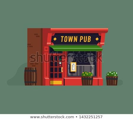 Tradicional pub ventana Windows noche Foto stock © franky242