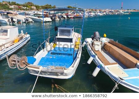 Klein Grieks middellandse zee haven panorama Stockfoto © vavlt