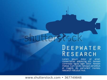 Sunken ship in porthole, vector illustration Stock photo © carodi