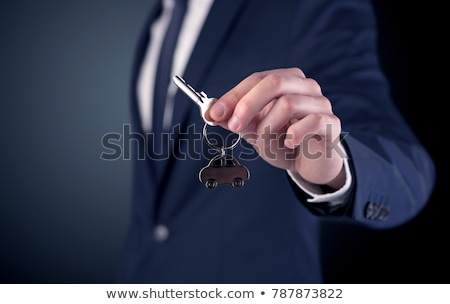 car key on dark background stock photo © kyolshin