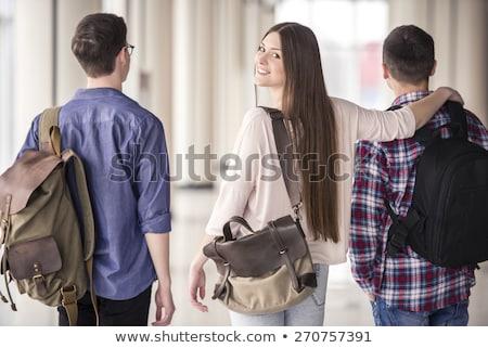 друзей колледжей школы двери образование подростку Сток-фото © photography33