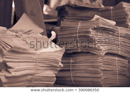 stacked old newspapers Stock photo © pterwort
