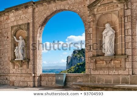 Sculptures in the cloister Montserrat Monastery Stock photo © digoarpi