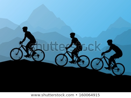 Fiatal nő képzés hegyi kerékpár biciklizik park portré Stock fotó © diego_cervo