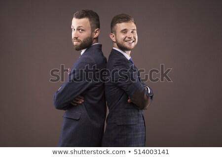 twee · volwassen · zakenman · poseren · team · samen - stockfoto © lunamarina