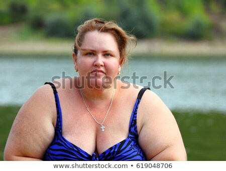 portarit of plump woman in swimwear Stock photo © Mikko