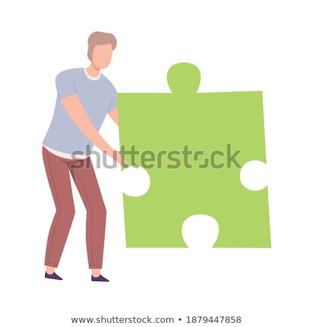 princípios · verde · quebra-cabeça · branco · lei · conceito - foto stock © tashatuvango