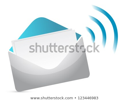 Email Key Concept Illustration Design Over A White Background Photo stock © alexmillos