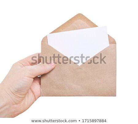 Yellow document envelope on white background Stock photo © stevanovicigor