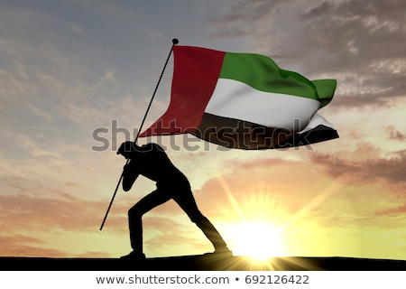 3d man holding a UAE flag Stock photo © Istanbul2009