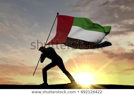Arap · bayrak · kalp · şekli · ikon · örnek · kalp - stok fotoğraf © istanbul2009