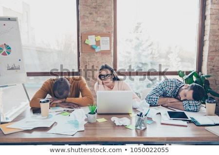 Stockfoto: Moe · kantoormedewerker · business · kantoor · handen · internet