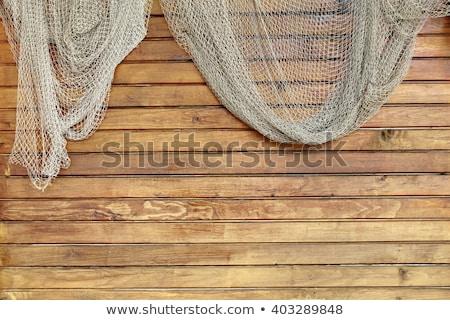 Fishing nets hanging outside Stock photo © Hofmeester