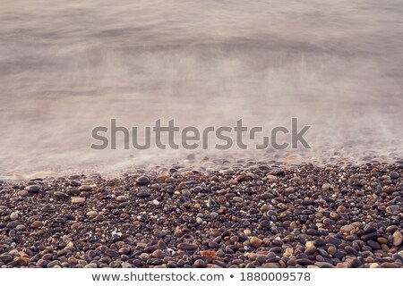 Mist and Waves on a Remote Beach Stock photo © wildnerdpix